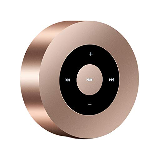 QAR Stylish Wireless Bluetooth Voice Speaker Light and Thin Touch 8.58.53cm Sound (Color : Gold)