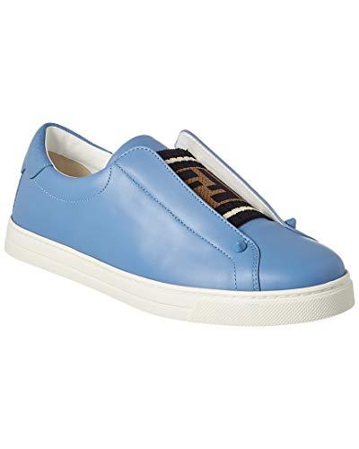 (Fendi Ff Leather Slip-On Sneaker, 38, Blue)