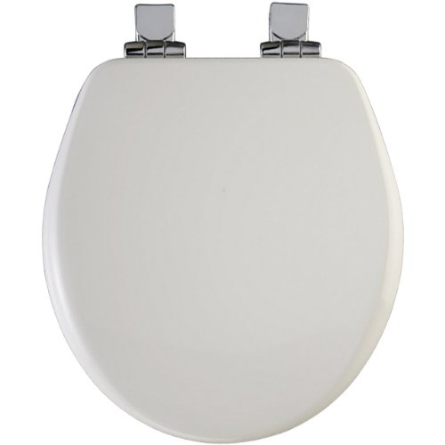 (Church 8170CHSL 000 Wood Round Slow-Close Toilet Seat, White)