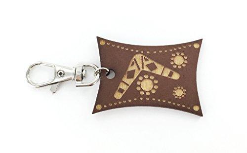Tribal Boomerang Zipper Charm - Laser Engraved Wood - Playful Design - Australia Souvenir - Kid's Gift
