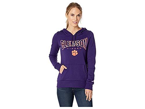 - Champion College Women's Clemson Tigers Eco University Fleece Hoodie Champion Purple Small