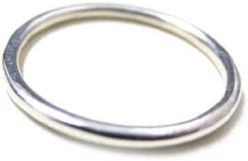 ZilverPassion Sterling Silver 1.5mm Thin Plain Band Stackable Ring (Size 2-15)