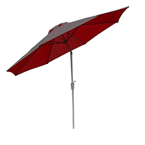 Alu Sonnenschirm Gartenschirm N19 300cm, neigbar, rostfrei ~ rot