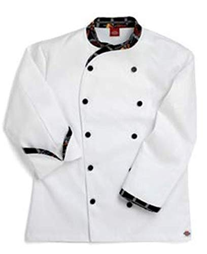 Dickies Chef Coat Contrast Trim Jacket, Peppers Pattern, 54