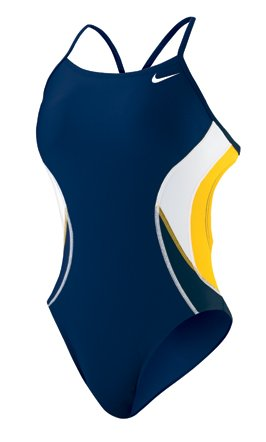 Nike Cut Out Tank - Nike Team Color Block Cut Out Tank - Competitive Swimsuit - TESS0045 Yellow Size-24