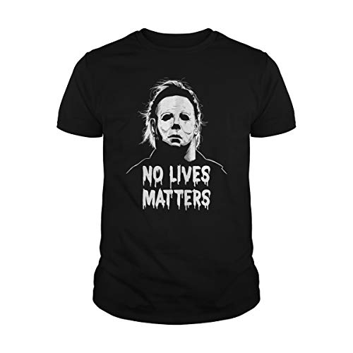 Poogky Men's Michael Myers No Lives Matter T-Shirt (2XL, Black)]()