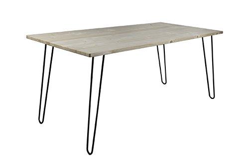 Retro Hairpin mesa, 180 cm x 80 cm x 77 cm, mesa de madera, mesa ...