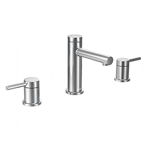 Moen T6193 Align Two-Handle High-Arc Widespread Bathroom Faucet without Valve, Chrome - Arc Two Handle