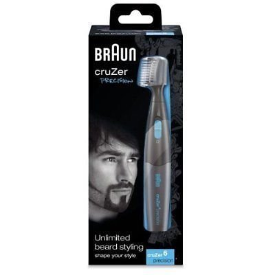 Braun Cruzer 6 Precision 2-in-1 Cordless Wet & Dry Trimmer for Men Brand New Excellent Quality Fast Shipping Ship Worldwide