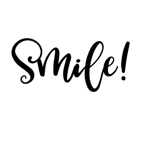 Smile Bathroom Mirror Decal Inspirational Sticker Motivational Quote Sign Wall -