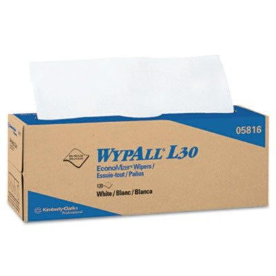 KIMBERLY CLARK WYPALL L30 Wipers in POP-UP Box 120 Wipers per Box ()