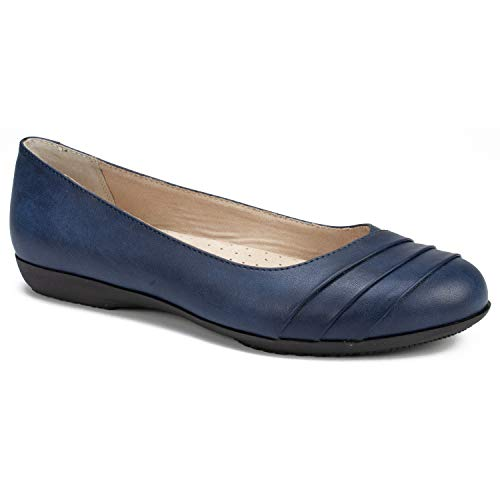 (CLIFFS BY WHITE MOUNTAIN Women's Clara Shoe, Navy/Burnished/Smooth, 8.5 M US)