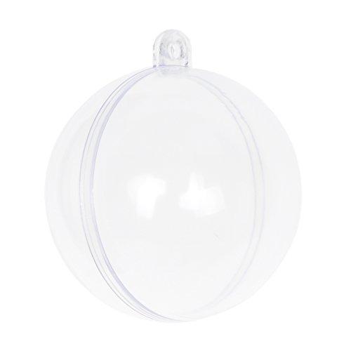 Seekingtag Clear Plastic Fillable Ornaments Ball - 100mm Pack of 10 Individual (Plastic Ornament Ball)