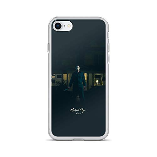 iPhone 7/8 Case Anti-Scratch Motion Picture Transparent Cases Cover Michael Myers Halloween Movies Video Film Crystal -