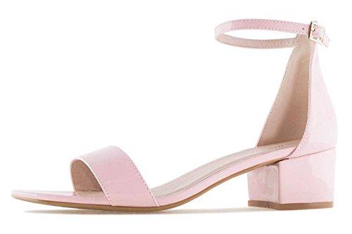 Sandalette Übergrößen Charol Andres Damenschuhe Machado große AM5259 in Rosa tfAAwxP