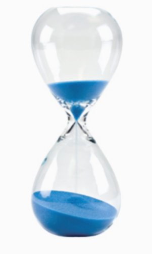 Generic Large Hand-Blown Hourglass Measures One Hour, Blue (Hourglass 1 Hour)