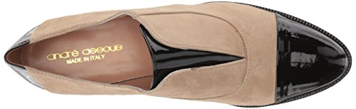André Assous Womens Joanie Loafer Sand / Nero