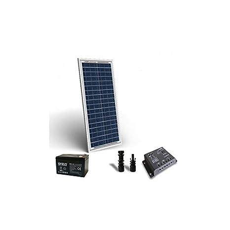 Kit Solar Pro 30W 12V Placa Solar Controlador de Carga 5A PWM ...