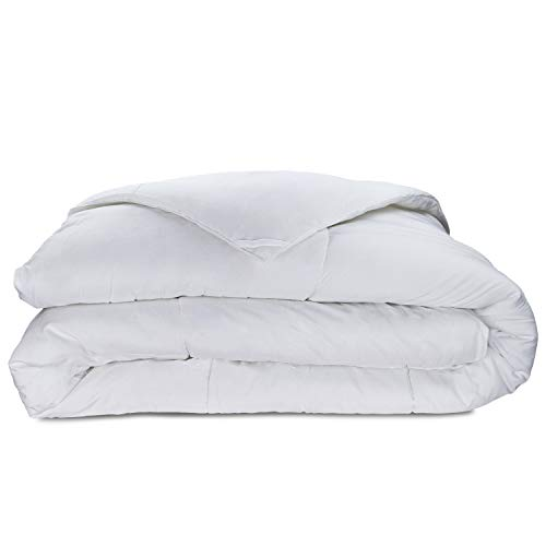 Collection Comforter - Cosy House Collection Luxury Bamboo Down Alternative Comforter - Hypoallergenic - Plush Microfiber Fill - Machine Washable Duvet Insert - White - King/Cal King