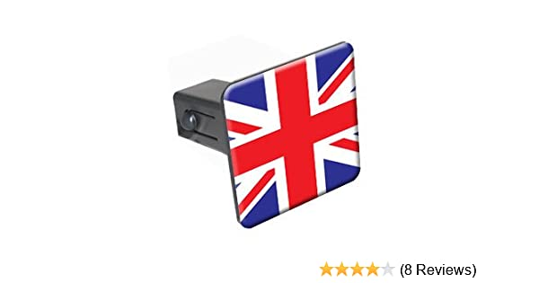Graphics and More Great Britain British Flag Tow Trailer Hitch Cover Plug Insert 2