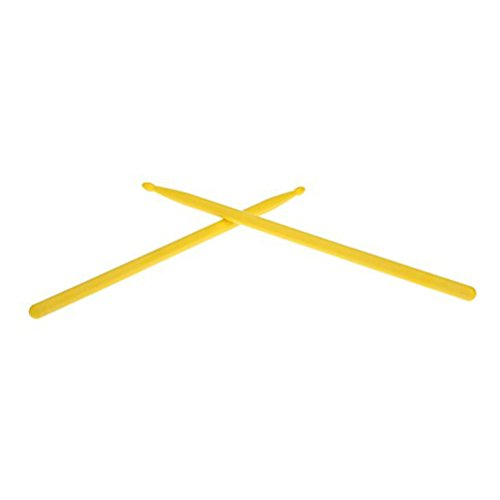 ROSENICE Drums Sticks Nylon Tip for Professional Lightweight Drum Stick 1 Pair (Yellow) ()