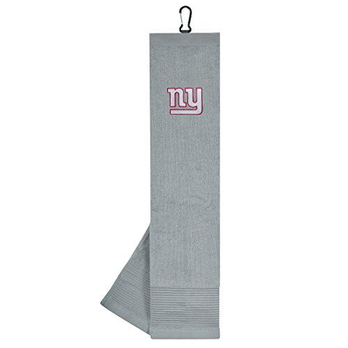 Team Effort NFL New York Giants Face/Club Tri-Fold Embroidered Towel