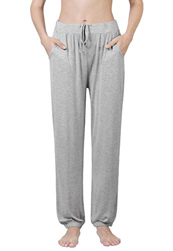 Air Curvey Soft Pajama Pants for Women Lounge Pants Gray L