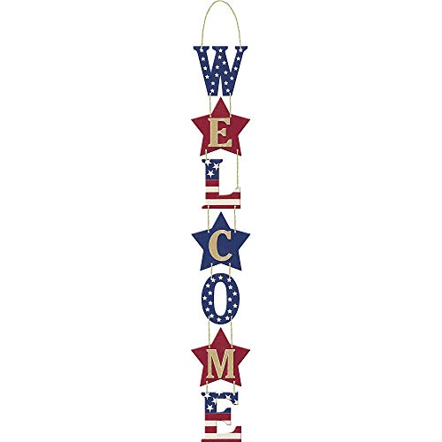 "Amscan Americana Fourth of July Party ""Welcome"" Hanging Vert"