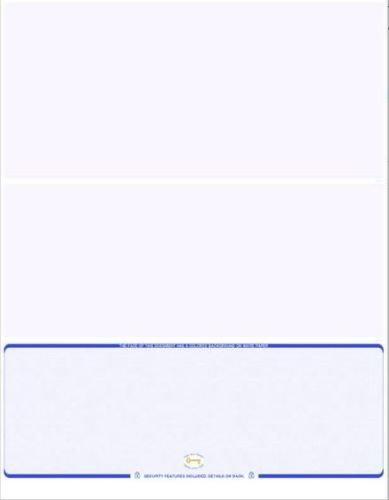 Amazon com : 250 Blank Check Paper on Bottom Blue Folds