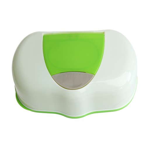 Misciu Plastic Wet Wipes Storage Case Box Refillable Container 80 Sheets (Green) by Misciu