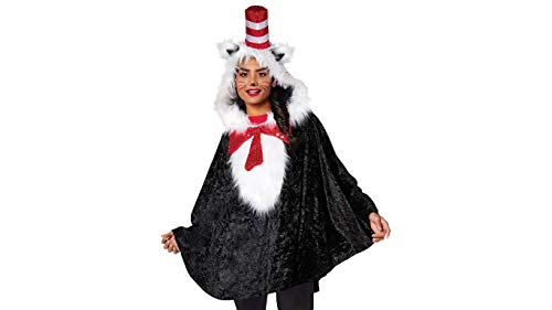 Dr. Seuss Cat in The Hat Poncho Costume for Dr. Seuss's Birthday Costume Idea]()