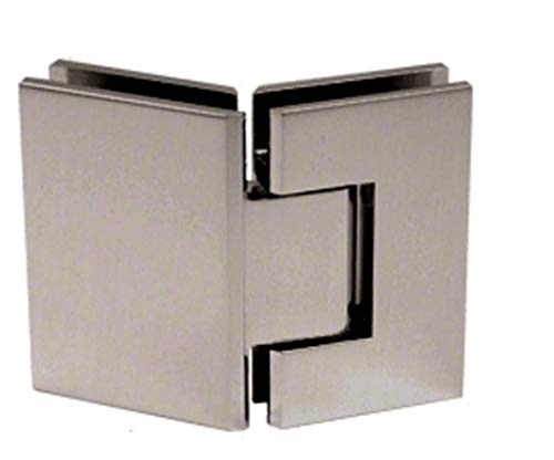 CRL Geneva 345 Series Brushed Nickel Adjustable 135176; Glass-to-Glass Hinge