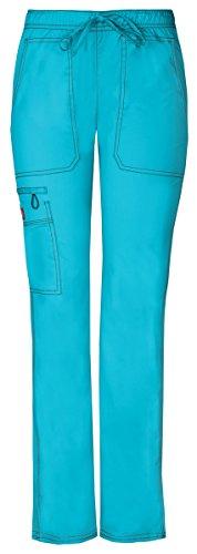 Dickies Gen Flex Women's Low Rise Straight Leg Scrub Pant XXX-Large ICY Turquoise - Wide Twill Trouser Leg
