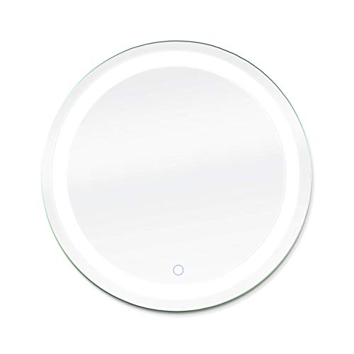 Dyconn Faucet Edison Round Tri-Color Wall Mounted Backlit LED Bathroom Vanity Mirror -