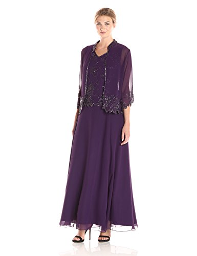 J Kara Women's Beaded Jacket Dress