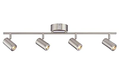 Designers Fountain EVT101227-35 Modern 3'. Brushed Nickel LED Track Lighting Kit with 4 Led Track Lights 1920 Lumens