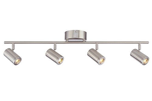 Designers Fountain EVT101227A-35 Kit with 4 Led Track Lights 1920 Lumens, Nickel ()