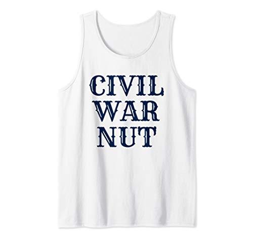 American History Reenactor US Civil War Nut Tank Top
