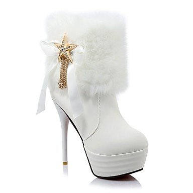 For Toe RTRY Winter CN43 Women'S Heel Boots White Leatherette Dress Stiletto 5 Shoes Boots 5 Casual Ankle Booties Round Fashion UK8 EU42 Black Boots US10 6fn4qr6wx