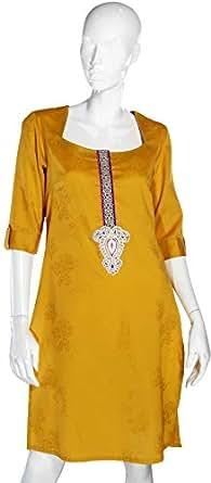 Sana'a Kayum Yellow Casual Kurta & Kurtis For Girls