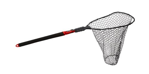 Ego Landing Nets - EGO S2 Slider Deep Rubber Mesh Landing Net, Large/22-Inch, Black/Red
