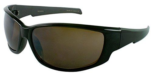 Edge I-Wear Big & Tall Plastic Sports Wrap Style Sunglasses - Fm Sunglasses