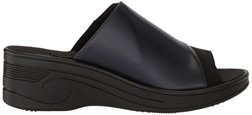 Women's Easy Wedge Street Black Slight Sandal Navy Neoprene 6xOxwU