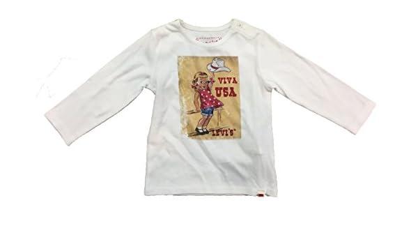 Levis - Camiseta Manga Larga Blanca Talla 18 Meses: Amazon.es: Ropa y accesorios