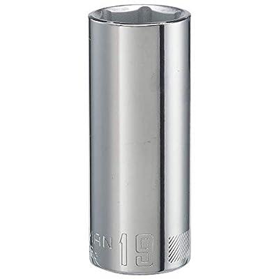 CRAFTSMAN Deep Socket, Metric, 3/8-Inch Drive, 19mm, 6-Point (CMMT44436)