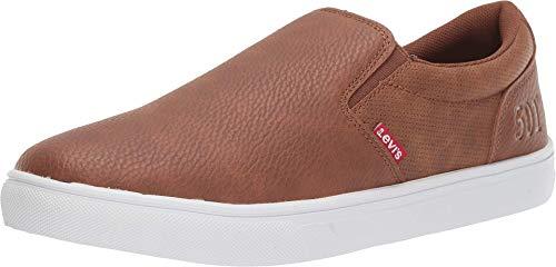 Levi's Mens Jeffrey 501 Slip-on Waxed Casual Sneaker