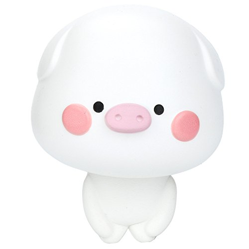 (Squishy Toy, ZOMUSAR Cute Pig Scented Slow Rising Collection Squeeze Stress Reliever Toy (White))