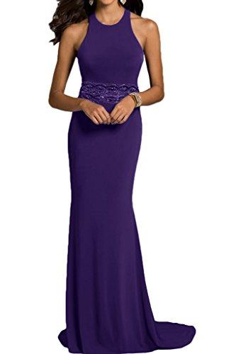 Etui Abendkleid Modisch Damen Ivydressing Linie Promkleid Guertel Violett Steine Festkleid Rundkragen Partykleid 57X5qxgwv