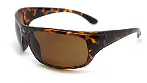 Renegade Patented Bifocal Polarized Reader Full Rim Men's Fishing Sunglasses 100%UV Protection (Tortoise Frame, Brown Lens - 600882, Bifocal - Sunglasses Fishing Renegade