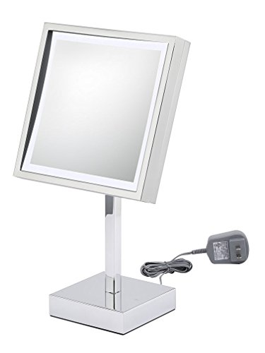 Kimball & Young 71243 Single Sided LED Square Wall Mirror, Chrome by Kimball & Young